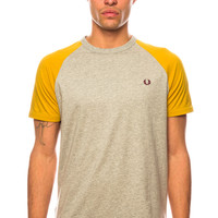 Fred Perry Raglan Ringer Stone Marl T-Shirt