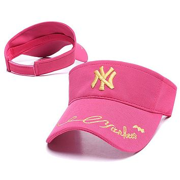 NY Fashionable Women Men Embroidery Sun Hat Baseball Cap Hat Rose Red