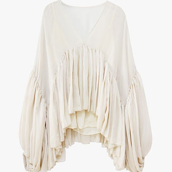 High and Low Ruffle Blouse