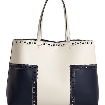 Tory BurchBlock-T Brogue Color Block Leather Tote