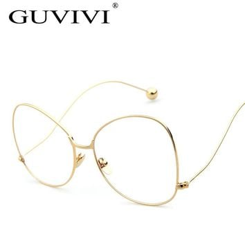 2017 GUVIVI Sunglasses Women Read Glasses Steampunk Brand Designer Copper Frame Mirror lens Sun Glasses