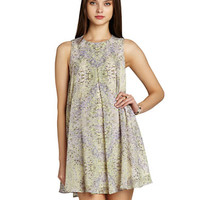 Bcbgeneration Graphic Print Pleat Dress