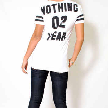 (aly) Nothing to wear baseball shirt