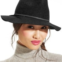 Nine West Metallic Tie Felt Rancher Hat