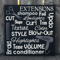 Hair Stylist Subway Art Sign, Salon Sign, Salon Decor, Hair Stylist Sign, Hairdresser Sign, Hair dresser Gift