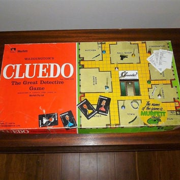 Vintage 1965 Cluedo Board Game Complete by Waddington's - The Great Detective Game / Retro Board Game / Who Done It? / Murfett Games