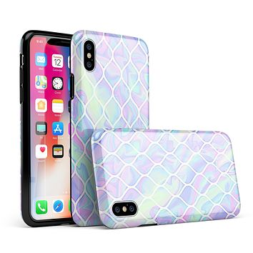 Iridescent Dahlia v4 - iPhone X Swappable Hybrid Case
