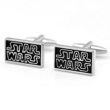 Basket Hill, Star Wars (Black and Silver) Cufflinks