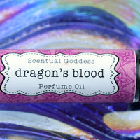 DRAGON'S BLOOD Perfume Oil - Spicy Eastern Incense Type Scented Unisex Cologne Oil