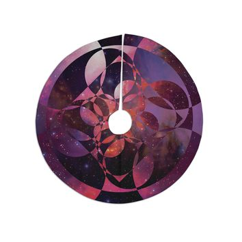 "Matt Eklund ""Galactic Brilliance Magenta"" Pink Purple Tree Skirt"