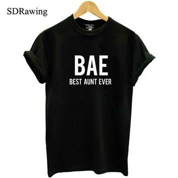 BAE best aunt ever Shirt Auntie casual T Shirt Bae Aunt Tee New Aunt cotton tops plus size