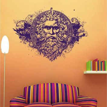 ik1951 Wall Decal Sticker god sea Poseidon mythology bedroom living room