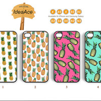 Pineapple, Phone cases, iPhone 5 case, iPhone 4 case, iPhone 5C case, Note 3 case, Note 2 case, Galaxy S4 case--N0109