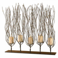 High Pointe Furnishings, Fontayne Dark Brown Candleholder