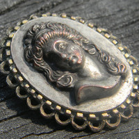 Beauty in Silver - Vintage Silver Cameo