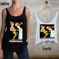 Disney Peter Pan Kissing For Woman Tank Top , Man Tank Top / Crop Shirt, Sexy Shirt,Cropped Shirt,Crop Tshirt Women,Crop Shirt Women S, M, L, XL, 2XL**