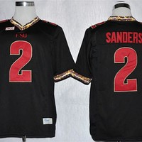 Nike Florida State Seminoles (FSU) Deion Sanders 2 College Ice Hockey Jerseys