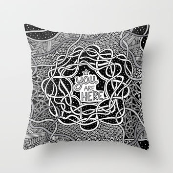 You Are Here Throw Pillow by Alliedrawsthings | Society6