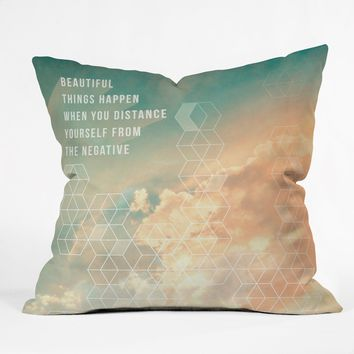 Gabi In The Clouds Throw Pillow