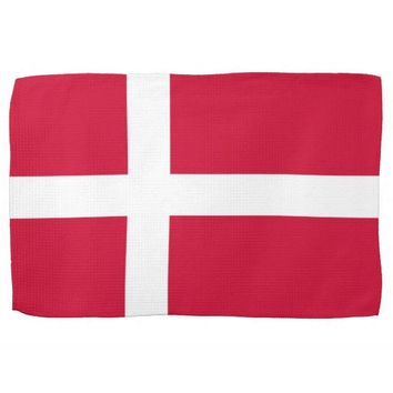 Kitchen towel with Flag of Denmark