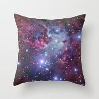 Nebula Galaxy Throw Pillow by RexLambo | Society6