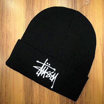 Boys & Men Stussy Hip Hop Women Men Beanies Winter Knit Hat Cap
