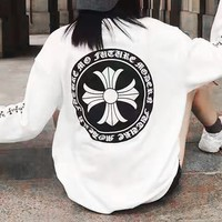 Chrome Hearts selling a horseshoe double sleeve printed hoodie for casual lovers