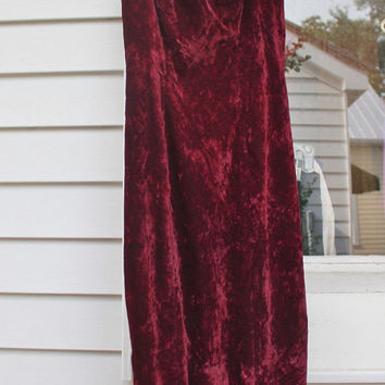 Plum Purple Velvet Dress, Maxi Cocktail Dress