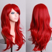 "28""  Long Curly Synthetic Harajuku Lolita Cosplay Wigs"
