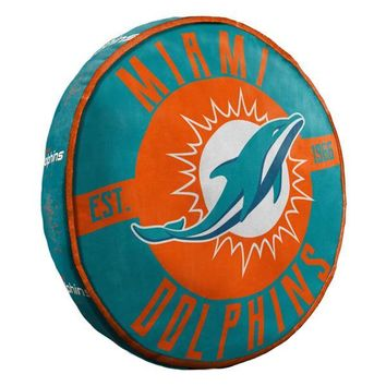 "Miami Dolphins NFL 15"" Cloud Pillow"