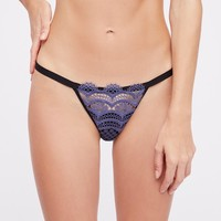 Free People Halsey Crochet Lace Thong