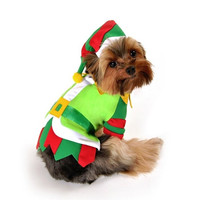 Santas Lil Helper Dog Costume - Small