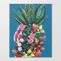 Be A Pineapple Canvas Print by Katie Cozzi