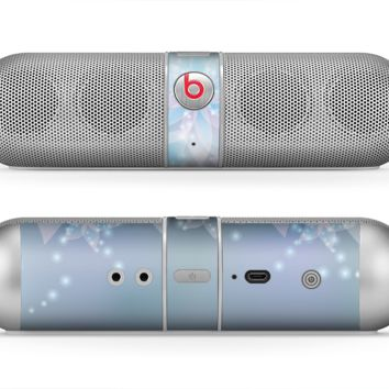 The Translucent Glowing Blue Flowers Skin for the Beats by Dre Pill Bluetooth Speaker