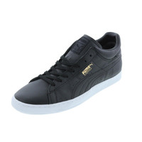 Puma Mens Stepper Classic Citi Leather Front Lace Casual Shoes