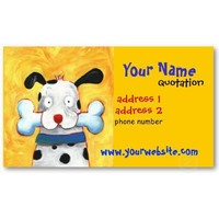 happy dog profile card business card from Zazzle.com