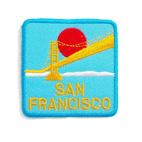San Francisco Blue Patch New Sew / Iron On Patch Embroidered Applique Patch Size 6.5cm.x6.5cm.