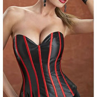 Satin Lace Up Bustier Corset