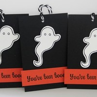 Halloween Ghost You've Been Boo-ed Party Gift Tags set of Three