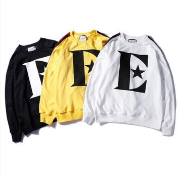 Italy brand designer The new style of autumn and winter Sweater Black yellow white three colors M-XXL