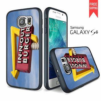 In N Out Burger Funny Samsung Galaxy S6 edge Case