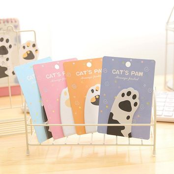 Newest Creative Cute Memo Pads Sticky Paper Note Paper Diary Memo Pads Note Pad DIY School & Office Stationery lovely cat claws