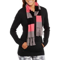 No Boundaries Juniors Long Sleeve Crew Neck Sweater with Pocket and Scarf - Walmart.com