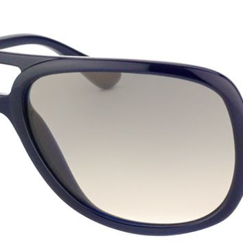 Ray Ban RB 4162 629/32 Dark Blue / Grey Plastic Aviator Sunglasses NIB RB4162