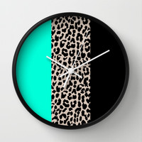Leopard National Flag VII Wall Clock by M Studio
