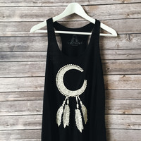 Crochet Dream Catcher Tank (Black)