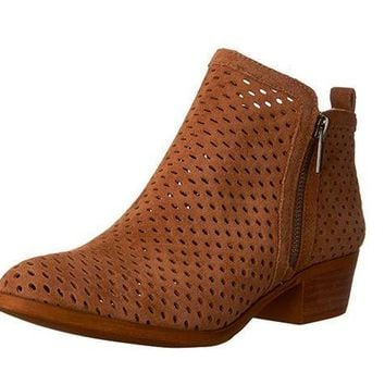 MDIGYW3 Lucky Brand Basel 3 Sesame Oiled Suede Booties