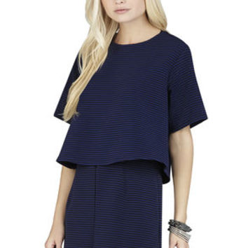 Boxy Top in Navy Blue - BCBGeneration