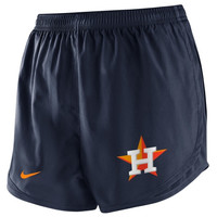 Nike Houston Astros Ladies Wordmark Tempo Performance Shorts - Navy Blue