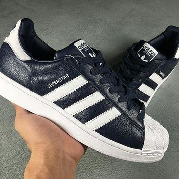 LMFON Adidas Superstar Shell-toe PRIDE PACK  Black White Flats Sneakers Causel Sport Shoes